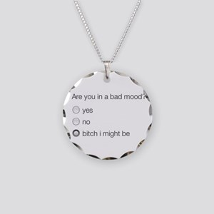 Are you in a bad mood ? Necklace Circle Charm